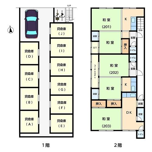 B_アパート1階2階_階段上(1000pix)