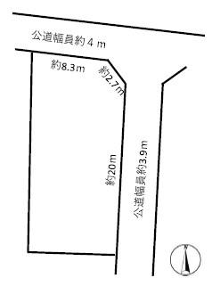 稲沢市島北浦町敷地図